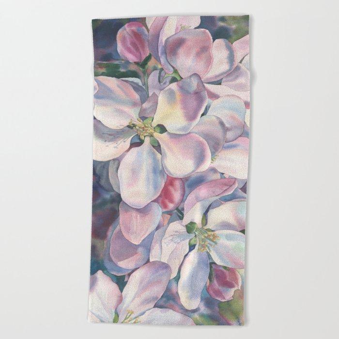 """Blossoming apple-tree"" Beach Towel"