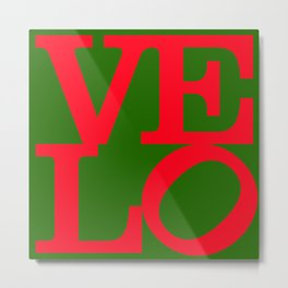 Velo Love – Logo PoP – June 12th – 200th Birthday of the Bicycle Metal Print
