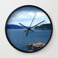 norway Wall Clocks featuring Landscape Norway by Christine baessler