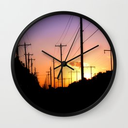 Lines of power Wall Clock