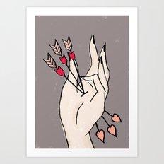 Arrow Hand Art Print