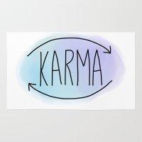 karma Area & Throw Rugs featuring Karma by Vwyz