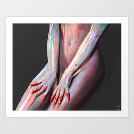 Nude Body Paint Art Print