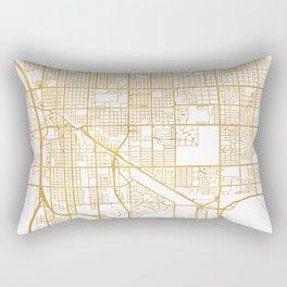 TUCSON ARIZONA CITY STREET MAP ART Rectangular Pillow