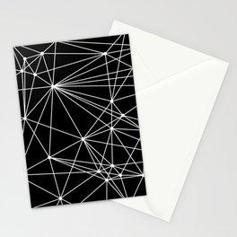 Black & White Geometric Web II Stationery Cards