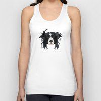 border collie Tank Tops featuring Border Collie Illustration by HonickDesign