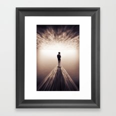 The Sky is getting closer Framed Art Print