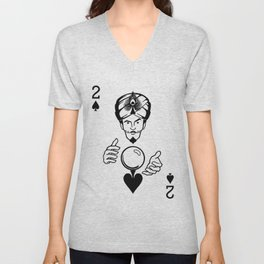Sawdust Deck: The 2 of Spades Unisex V-Neck