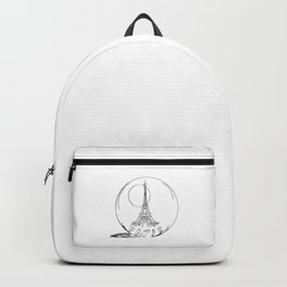 Paris in a glass ball .  City art, Decorative Prints, altwall, Home Decor Graphicdesign Backpack