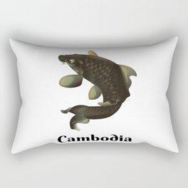 Cambodia travel poster Rectangular Pillow