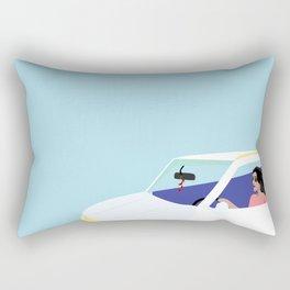 Windows Down Rectangular Pillow