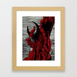 Sad Satan Framed Art Print