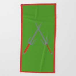 Cowabunga (Raphael Version) Beach Towel