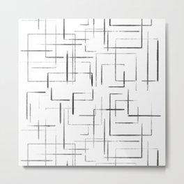 Artsy Squares Metal Print