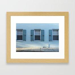 Blue Charleston Windows Framed Art Print