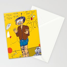 PANIC - yellow Stationery Cards