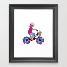 Summer Bike Ride Framed Art Print