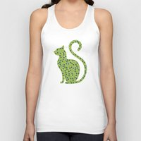 gem Tank Tops featuring Gem Cat by Alisa Galitsyna