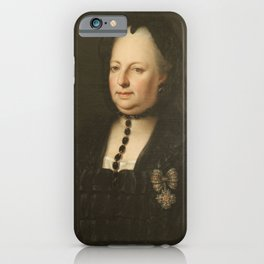 Anton von Maron - Maria Theresa in Mourning Clothes (1772) iPhone Case