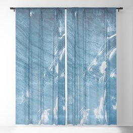 AERIAL PHOTO OF BODY OF WATER Sheer Curtain