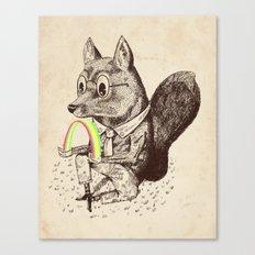 Strange Fox Canvas Print