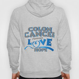 Hope Support Colon Cancer Awareness Gift Hoody