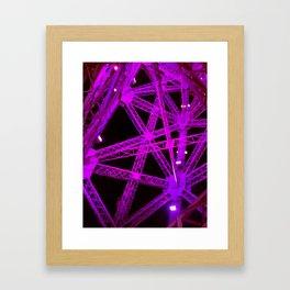 Violet Eiffel Tower Design Framed Art Print