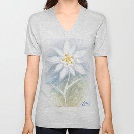 Edelweiss flower Unisex V-Neck