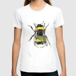 Bumblebee, bee artwork, bee design minimalist honey making design T-shirt