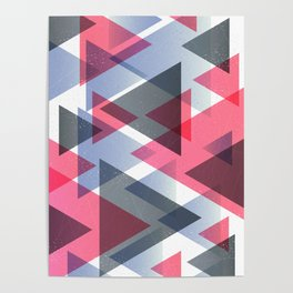 GRADIENT TRIANGLE SALAD Poster