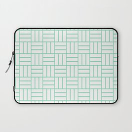 Basketweave (Mint & White Pattern) Laptop Sleeve