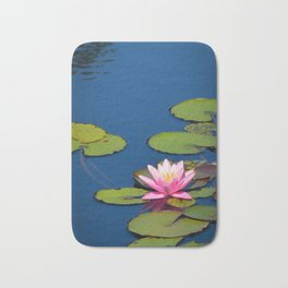Pink Waterlily by Teresa Thompson Bath Mat