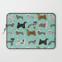 Chinese Crested dog breed variety of coats dog breed dog owner must have gifts for dog person Laptop Sleeve