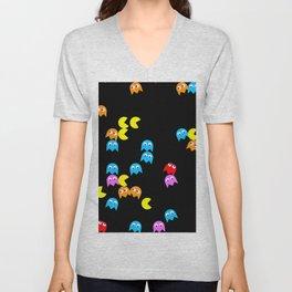 Pacman background Unisex V-Neck