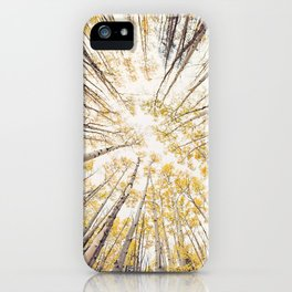 fall looking up iPhone Case