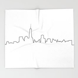 New York Life Line Throw Blanket