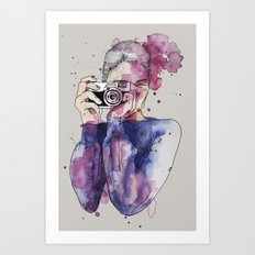 Selfie by carographic Art Print
