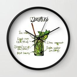 Crazy Mojito Wall Clock