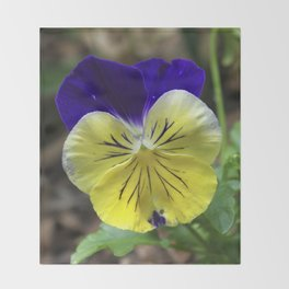 Vivid Viola Throw Blanket