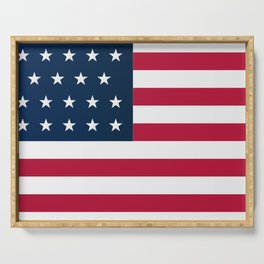 Union Side American Civil War Flag Serving Tray