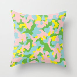 New Colors Camouflage Throw Pillow