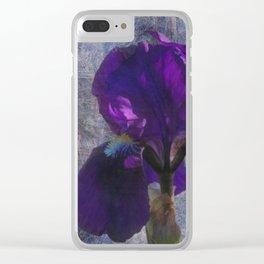 Captivating Iris Clear iPhone Case