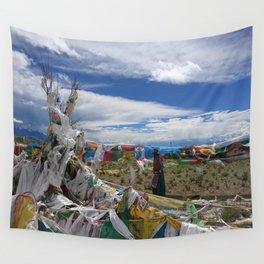 Colorful Tibetan Buddhist Prayer Flags Wall Tapestry