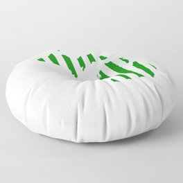 Green and White Michigan Floor Pillow