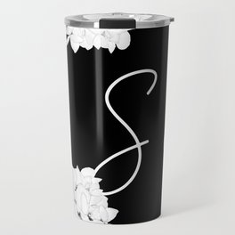 "Custom Bridesmaid Letter ""S"" Travel Mug"