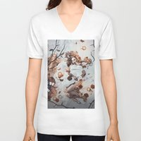 sleeping beauty V-neck T-shirts featuring Sleeping Beauty by Rose's Creation