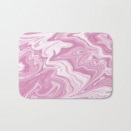 Pink Liquid Marble Bath Mat