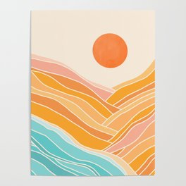 Adventure On The Horizon / Abstract Landscape Poster