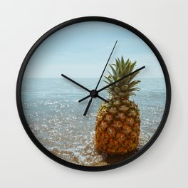 The pineapple and the ocean Wall Clock