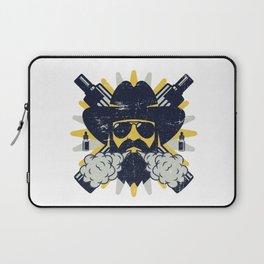 Cloud Chaser - Vaping Bearded Man Laptop Sleeve